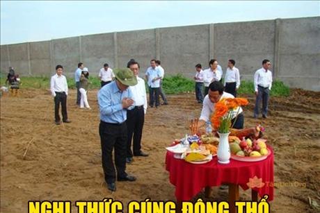 Các nghi thức cúng Động Thổ xây nhà công trình
