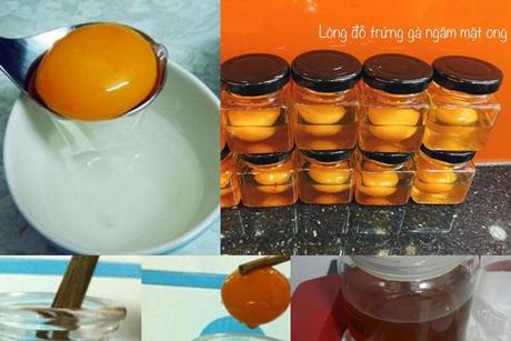 Cách làm lòng đỏ trứng ngâm mật ong đẹp da, nở ngực