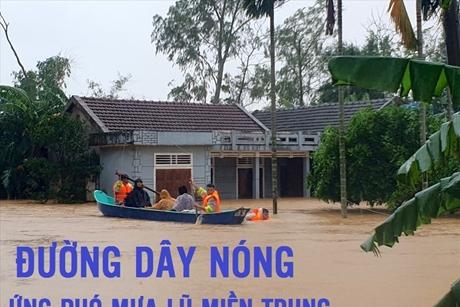 Danh sách đường dây nóng ứng phó mưa lũ tại Miền Trung