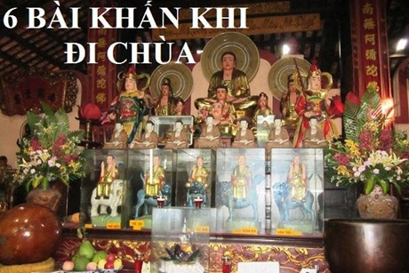 Tổng hợp 6 bài khấn khi đi chùa lễ Phật
