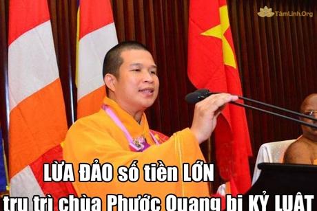 Phạt hoàn tục trụ trì chùa Phước Quang vì LỪA ĐẢO số tiền lớn