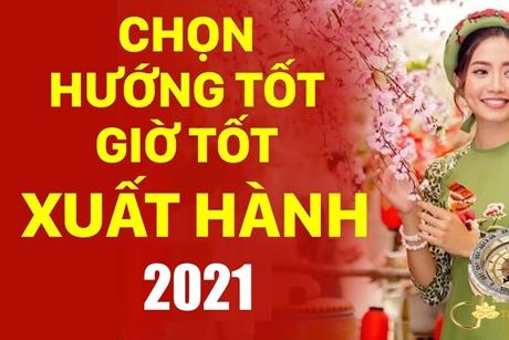 Xem giờ đẹp, hướng xuất hành mùng 1 Tết Tân Sửu 2021