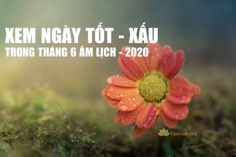 Xem ngày giờ tốt trong tháng 6 Âm lịch năm 2020